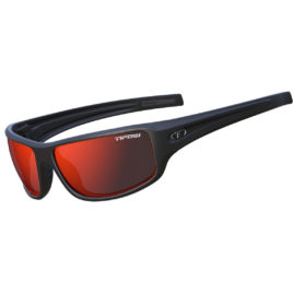 Tifosi BRONX Matte Black Clarion Red Polarized Sunglasses