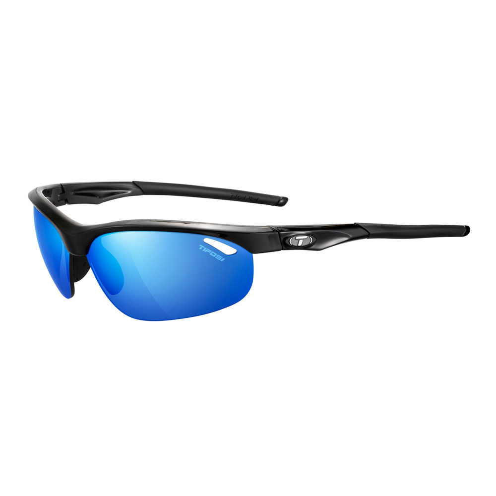 TifosiVELOCE Gloss Black Clarion Blue Mirror CYCLING Sunglasses